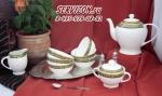 Чайный сервиз САЛТАНАТ (азиатский). Костяной фарфор Акку