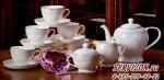 Чайный сервиз СОВЕРШЕНСТВО 6 персон, 15 предметов.Костяной фарфор Акку