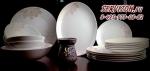 Столовый сервиз МАГНОЛИЯ 6 персон/20 предметов. Костяной фарфор Акку