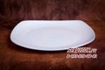 Тарелка квадратная плоская, костяной фарфор Акку