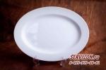 Блюдо овальное Акку, костяной фарфор, диам.31,5 см