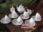 Чайный сервиз ГЛОРИЯ. Костяной фарфор Акку