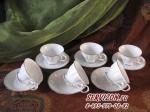 Чайные пары ГЛОРИЯ на 6 персон/6 предметов. Костяной фарфор Акку.