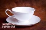 Чайная пара классика, костяной фарфор Акку