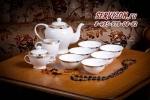 Чайный сервиз с пиалами ЗОЛОТАЯ ВЕТОЧКА. Костяной фарфор Акку