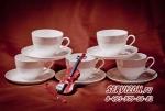 Набор чайных пар ДИАНА на 6 персон 12 предметов. Костяной фарфор Акку