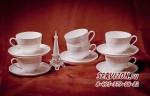 Набор чайных пар ДИОНИС на 6 персон 12 предметов. Костяной фарфор Акку
