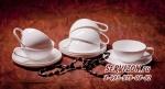Набор чайных пар ТОМИРИС на 6 персон 12 предметов. Костяной фарфор Акку