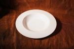 Тарелка полупорционная. Костяной фарфор Акку