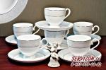 Набор чайных пар АДАЖИО 6 персон/12 предметов. Костяной фарфор Акку.