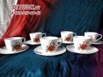 Набор чайных пар ВАРВАРА. Костяной фарфор Акку