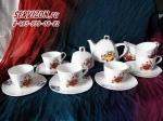 Чайный сервиз ВАРВАРА. Костяной фарфор Акку