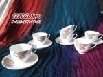 Набор чайных пар ЛЕЙЛА. Костяной фарфор Акку