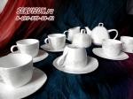 Чайный сервиз ИНГРИД. Костяной фарфор Акку