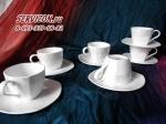 Набор чайных пар ИНГРИД. Костяной фарфор Акку
