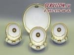 Набор салатников Сабина, Версаче, Золотая обводка. Чехия, 7 предметов