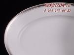 Блюдо овальное 39см Сабина, Изящная платина. Чехия