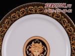 Набор тарелок 25см Сабина, Версаче. Чехия, 6 штук