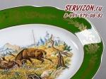 Блюдо овальное 40см, Мэри-Энн, Зеленая охота.Чехия