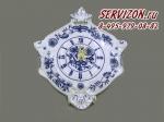 Часы настенные гербовые 27см, Мэри-Энн, Луковый рисунок.Чехия