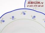 Набор тарелок 25см, Мэри-Энн, Незабудки.Чехия, 6 штук