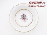 Набор тарелок 25 см, Соната, Весенние цветы.Чехия, 6 штук