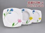 Набор тарелок Бьянка, Цветы. Чехия, 18 предметов
