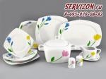 Сервиз столовый Бьянка, Цветы. Чехия, 25 предметов