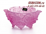 Ваза для конфет, Фрост Розы Розовые, 16,5 см