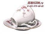 Кофейная пара Бернадотт. Дикая роза. Чехия. (6 персон 12 предметов)