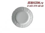 Тарелка десертная Бернадотт. Деколь. Отводка платина. Чехия. (19 см - 6 шт)