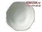 Салатник круглый Бернадотт. Деколь. Отводка платина. Чехия. (25 см)