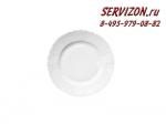 Тарелка десертная Бернадотт. Белая посуда. Чехия. (17 см - 6 шт)