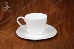 Кофейная пара квадрат 120 мл. Костяной фарфор Акку